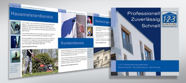 1-2-3 Gebäudemanagement Unternehmensdarstellung