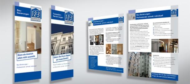 1-2-3 Gebäudemanagement Mailings an Hausbesitzer und Architekten