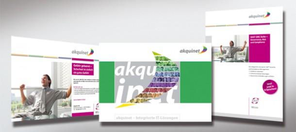 akquinet Gestaltungslinie Anzeigen und Folder